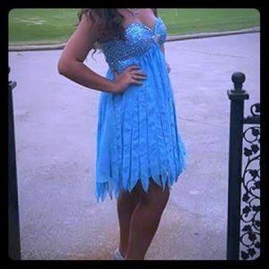 Blue homecoming dress sz8